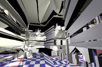 Generative Design of a Bus Station, interior 2 view