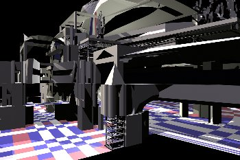 Generative Design of a Bus Station, interior 1 view